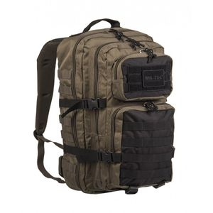 Mil-Tec US  Assault Reppu 20L, Ranger Green/Musta