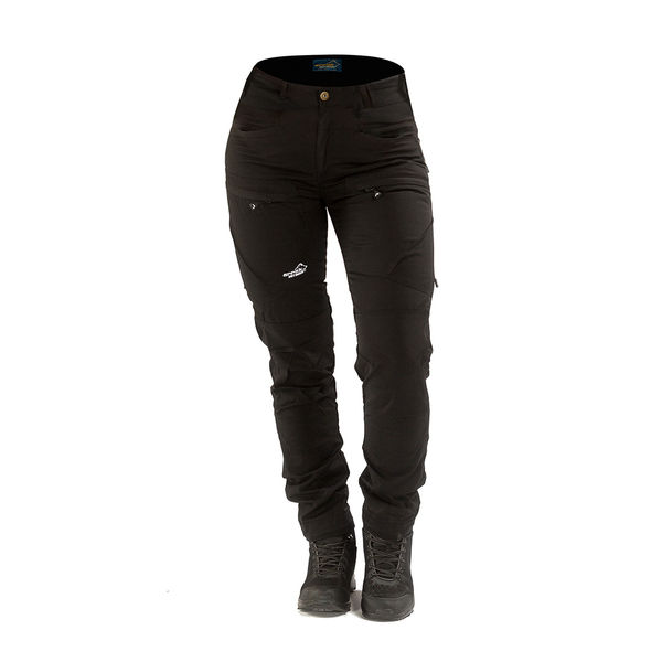 Arrak Outdoor Active Stretch Pants naisten retkeilyhousut, Musta